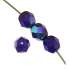 Fire polished 6mm Cobalt Blue Aurora Borealis Strung